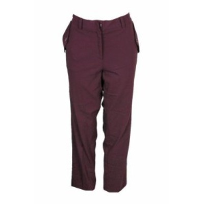 ファッション パンツ Ny Collection Plus Size Burgundy Slim-Leg Pants 1X