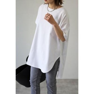 tシャツ Tシャツ 【2021 S/S 新作】コットンサイドスリットTシャツ