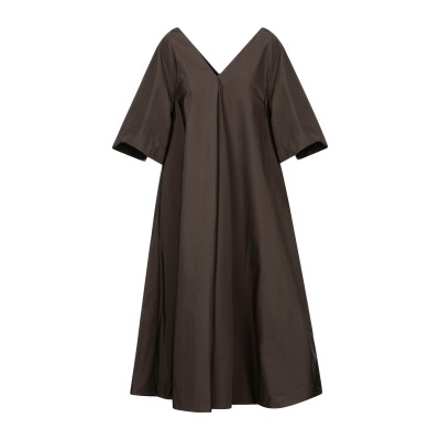 SUPER BLOND 7分丈ワンピース・ドレス 鉛色 42 キュプラ 100% 7分丈ワンピース・ドレス