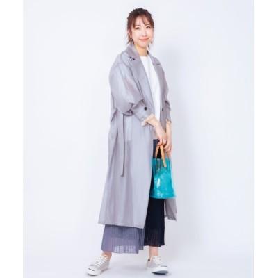 ADMIX-Japan/JETSET SOLO PLUS / シアーテンセルコート WOMEN ジャケット/アウター > チェスターコート