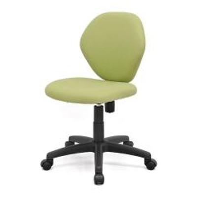 オフィスチェア キャスター付き 座面高43cm~54cm 昇降式 キャスターチェア 椅子 グリーン ( 送料無料 チェアー イス デスクチェア パソコンチェア オフィスチェアー デスク 学習椅子 事務椅子 高さ 調整 座面 ロッキング オフィス 会社 )