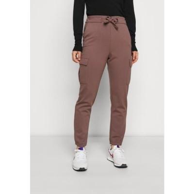 レディース ファッション ONLPOPTRASH BELT PANT - Cargo trousers - peppercorn