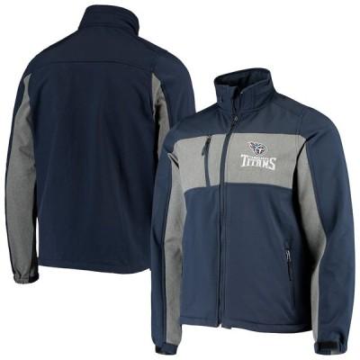 """メンズ ジャケット """"Tennessee Titans"""" Zephyr Softshell Full-Zip Jacket - Navy"""