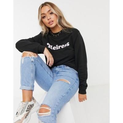 スキニーディップ レディース シャツ トップス Skinny Dip 'heiress' sweatshirt in black