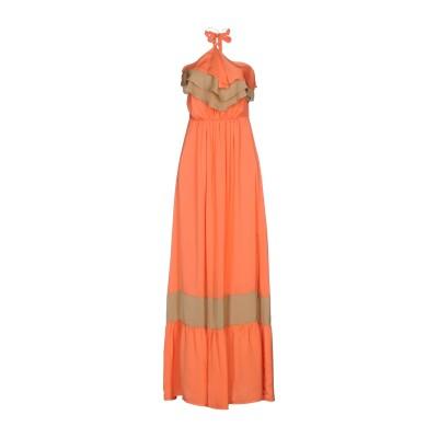 アンナリータ エンネ ANNARITA N ロングワンピース&ドレス コーラル 42 ポリエステル 100% ロングワンピース&ドレス
