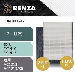 RENZA瑞薩濾網 適用Philips AC1213/80 可替換飛利浦FY1410 FY1413 空氣清淨機濾芯