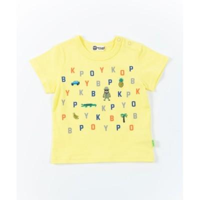 【ケーピー】 KPBOY(ケーピーボーイ)アルファベット半袖Tシャツ(80-90cm) キッズ その他 90 KP
