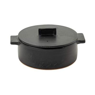Rikizo 土鍋 ドゥマン 1-2人用 ブラック 直径22.5×奥行18×高さ10.5cm 1.15l 日本製 (ブラック クレイポットS)