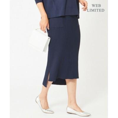 ICB/アイシービー 【WEB限定】Cotton Stretch ニットスカート [限定]ネイビー系 S
