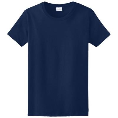 ギルダン Gildan レディース Tシャツ トップス Team Ultra Cotton 6oz. T-Shirt Navy