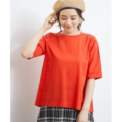 (ROPE' PICNIC/ロペピクニック)シルケット天竺Tシャツ/レディース オレンジ(70)