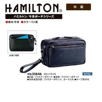 HAMILTON/牛革ポーチ#25846