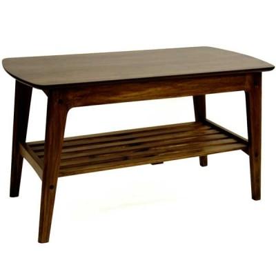 リビングテーブル センターテーブル ROSIE 90cm幅 ウォールナット 北欧モダン
