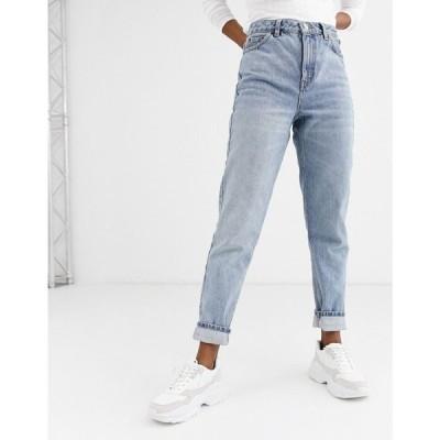 トップショップ Topshop レディース ジーンズ・デニム ボトムス・パンツ mom jeans in bleach wash ブリーチブルー