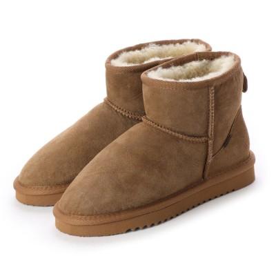 シューズラウンジ アウトレット shoes lounge OUTLET ボアショートブーツ 258004C (キャメル)