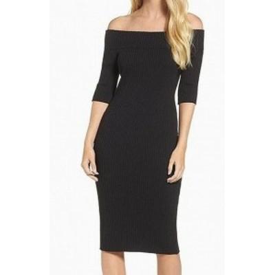 Trina Turk トリーナ ターク ファッション ドレス Trina Turk NEW Black Womens Size XS Off-the-Shoulder Sheath Dress