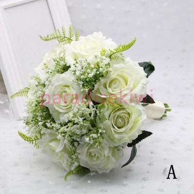 花 ブーケ 花束 ウエディングブーケ ブライダルブーケ 花嫁 結婚祝い 披露宴 結婚式 演奏会 歓迎会 お祝い ウェディング用 大人気 写真撮り プレゼント 安い
