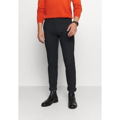 セレクテッドオム カジュアルパンツ メンズ ボトムス SLHSLIM ARVAL PANTS - Trousers - dark sapphire/herringbone