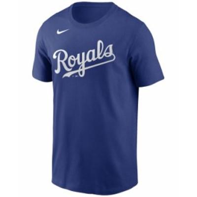 ナイキ メンズ Tシャツ トップス Kansas City Royals Men's Swoosh Wordmark T-Shirt RoyalBlue