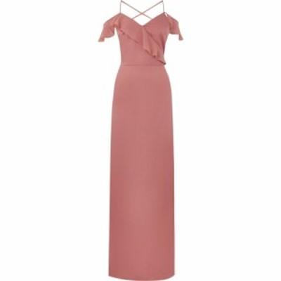 オアシス Oasis レディース ワンピース マキシ丈 ワンピース・ドレス Ruffle Satin Maxi Dress Pink