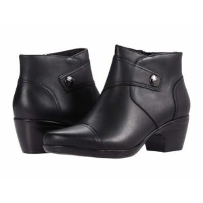 Clarks クラークス レディース 女性用 シューズ 靴 ブーツ アンクル ショートブーツ Emily Calle Black Leather【送料無料】