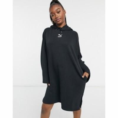 プーマ Puma レディース ワンピース パーカーワンピース ワンピース・ドレス Classics Long Sleeve Hoodie Dress In Black ブラック