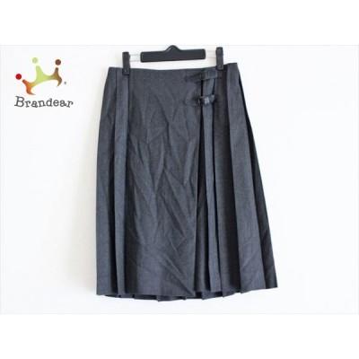 オールドイングランド OLD ENGLAND 巻きスカート サイズ36 S レディース ダークグレー×レッド  値下げ 20200925