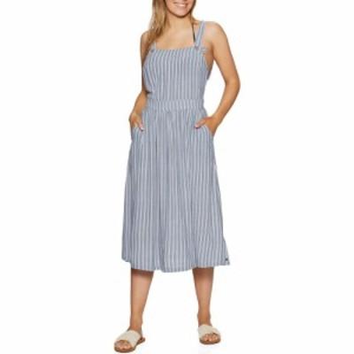 ロキシー Roxy レディース ワンピース ワンピース・ドレス summer transparency dress True Navy Birdy Stripes