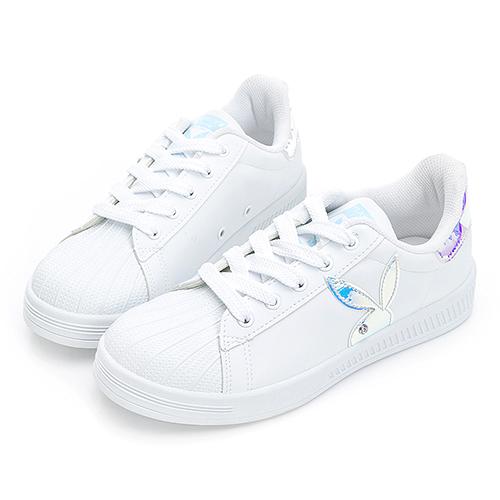PLAYBOY  Shiny Dreamer 閃閃霓光貝殼小白鞋 -白貝殼(Y7221)