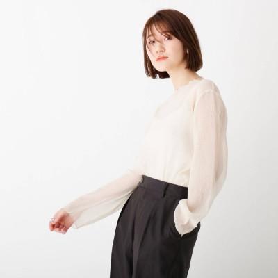 エージー バイ アクアガール AG by aquagirl シアーメロウトップス (オフホワイト)