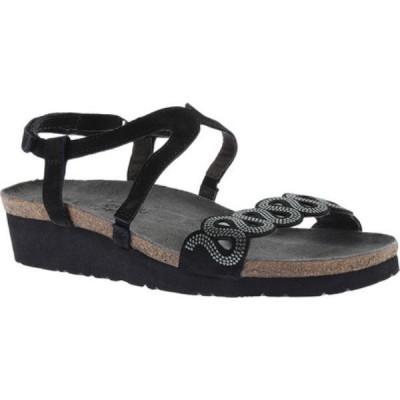 ナオト Naot レディース サンダル・ミュール アンクルストラップ シューズ・靴 Addie Ankle Strap Sandal Black/Silver Rivets/Black Velvet/Sterling Leather