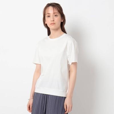 インディヴィ INDIVI 【洗える/UVケア/接触冷感】ドルマンスリーブカットソー (ホワイト)