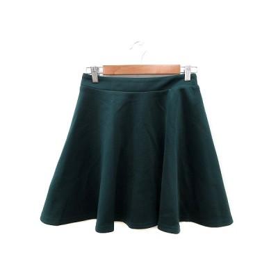 【中古】アーバンリサーチ URBAN RESEARCH フレアスカート ミニ 0 緑 グリーン /ST レディース 【ベクトル 古着】