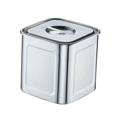 18-8深型角キッチンポット 8cm 0031100