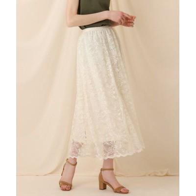 Couture Brooch/クチュールブローチ フラワースカラレースロングスカート アイボリー(004) 38(M)