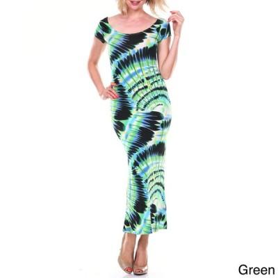 ドレス ホワイトマーク White Mark Women's Cut-out Back Maxi Dress