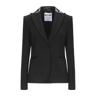 モスキーノ MOSCHINO テーラードジャケット ブラック 42 ポリエステル 89% / ポリウレタン 11% テーラードジャケット