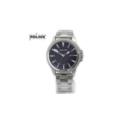 POLICE ポリス 14790JS 腕時計 POLVALIANCE ネイビー×シルバー