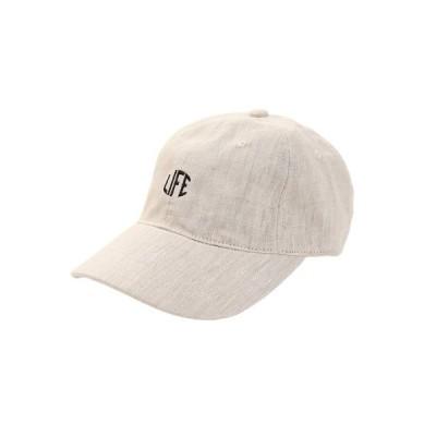 エーシーピージー(ACPG) 帽子 メンズ リネン刺繍 キャップ LIFE 897PA9ST1768 NTL 日よけ (メンズ)
