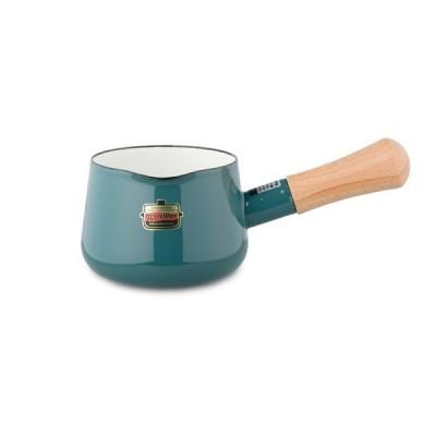 富士ホーロー ハニーウェア ソリッド ミルクパン 12cm<スモークブルー>(SD-12M・SB)  【  Honey Ware Solid FUJIHORO 富士琺瑯 鍋 ホーロー  】