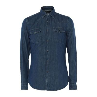 ハイドロゲン HYDROGEN デニムシャツ ブルー S コットン 100% デニムシャツ