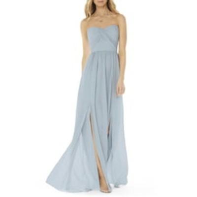 ソーシャルブライドメイド ワンピース トップス レディース Strapless Georgette A-Line Gown Mist