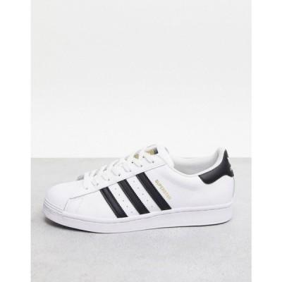 アディダス adidas Originals メンズ スニーカー シューズ・靴 Superstar trainers in white ホワイト