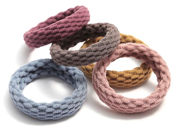 無接縫簡約髮繩(4入)【D802102】顏色隨機出貨