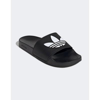 アディダスオリジナルス レディース サンダル シューズ adidas Originals adilette Lite sliders in black Black