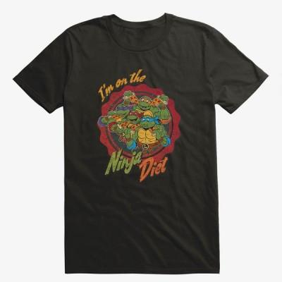 Anime ニンジャタートルズ Tシャツ On The Ninja Diet Group Pizza T-Shirt メンズ