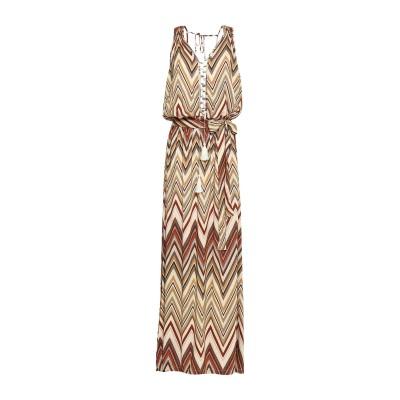MELISSA ODABASH ロングワンピース&ドレス ベージュ M レーヨン 100% ロングワンピース&ドレス