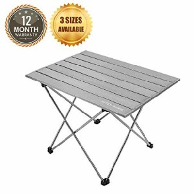HITORHIKE キャンピングテーブル アルミ製卓上 超軽量キャンプテーブル キ (未使用品)