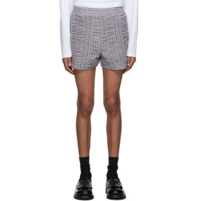 ビアンカ サンダース Bianca Saunders メンズ ショートパンツ ボトムス・パンツ white & brown shrunken shorts Black/White/Brown