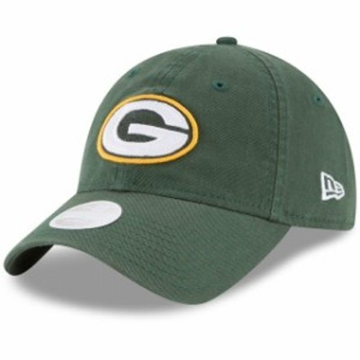 New Era ニュー エラ スポーツ用品  New Era Green Bay Packers Womens Green Core Classic Primary 9TWENTY Adjustable Hat